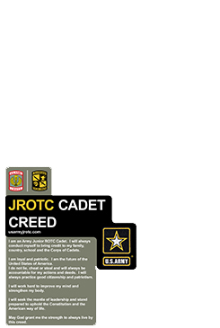 Blank Cadet Creed Vertical Poster Template 2' x 3' Poster