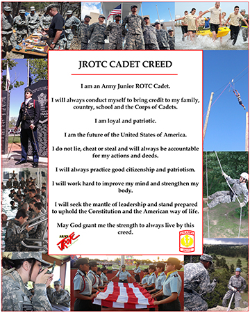 JROTC Creed poster  (white background)
