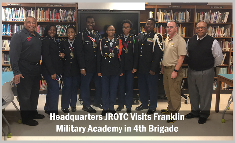 Headquarters JROTC Visits Franklin Military Academy in 4th Brigade