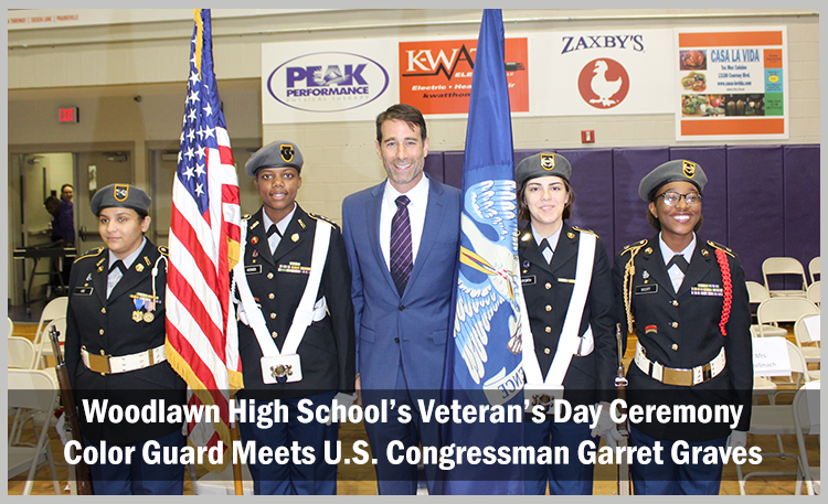 Woodlawn High School Color Guard With Congressman Graves