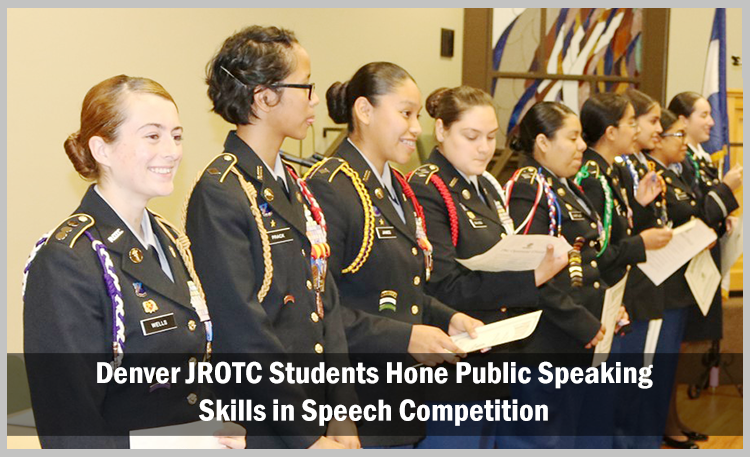 Denver JROTC Students Hone Public Speaking Skills in Speech Competition